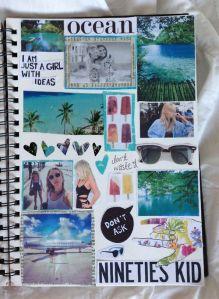 Cahiers qui réunit tous vos souvenirs de vacances, avec photos, collages... . A consulter en cas de coup de blues!
