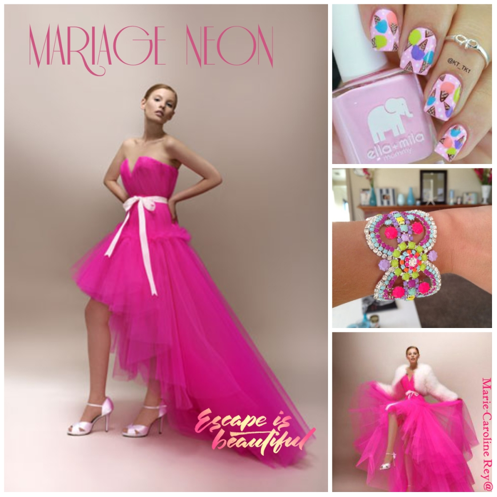 collage neon flashy blog article mariage